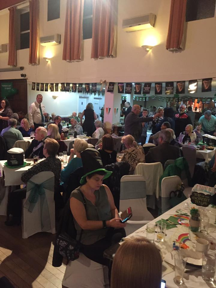 People celebrating St Patricks Day at the Portsmouth Irish Society